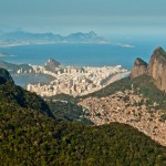 Scenic Rio View, Mountains, Favela, City Skyline, Ocean
