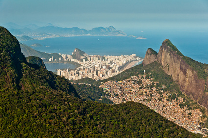 Scenic Rio View, Mountains, Favela, City Skyline, Ocean