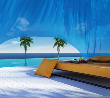 Luxury gazebo, lounge sofa bed, pool suumer holiday