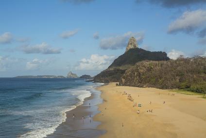 """Cacimba do Padre"" Beach in Fernando de Noronha Island, Brazil"