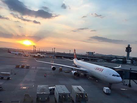SP Terminal 3 Abflug Swiss
